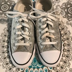Glitter converse.   Some staining.  Size 8.